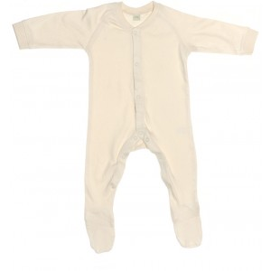 Organic Cotton Baby-Strampler natur