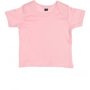T-Shirt mit Couvert-Halsöffnung rosa