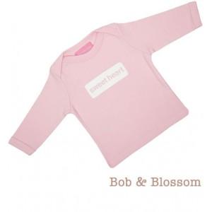 "Bob & Blossom Longsleeve ""sweet heart"" hellrosa"