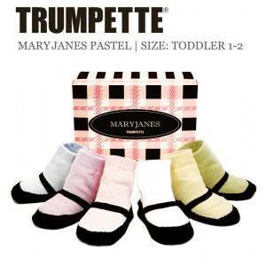 Trumpette Kleinkind-Socken Maryjanes pastell 6er-Pack