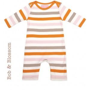 Bob & Blossom Babyschlafanzug bunt gestreift
