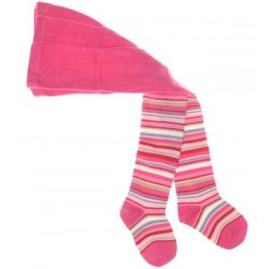 Baby-Strumpfhose pink geringelt