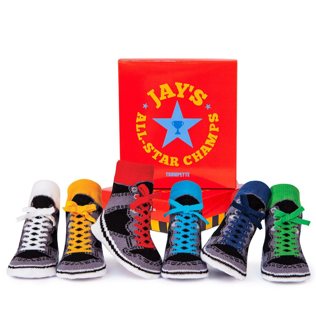 All-Star Chucks Babysocken Jays 6er-Pack von Trumpette