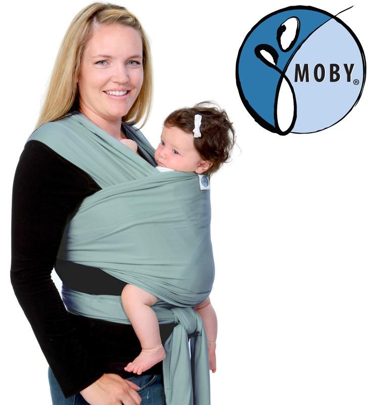 3fb16a335d4 Tragetuch Moby Wrap Classic Jade Moss grün
