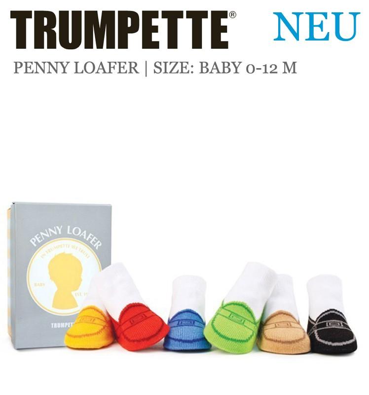 best service 487ad e8557 Trumpette Babysocken Geschenk Penny Loafer 6er-Pack in der ...