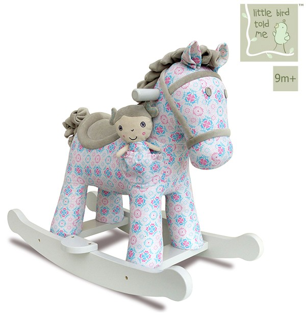 vintage schaukelpferd f r babys ab 9 monaten little bird told me rosie and mae rocking horse. Black Bedroom Furniture Sets. Home Design Ideas