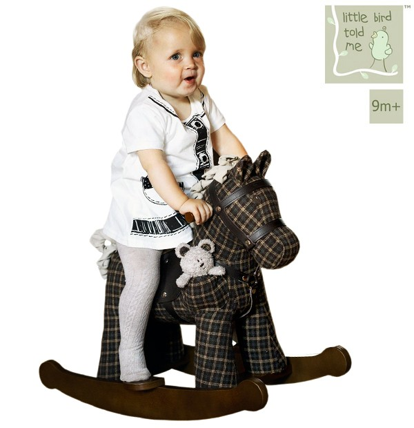 Schaukelpferd Kleinkind Holz ~ Kleinkind Schaukelpferd mit Ledersattel ab 9 Monate