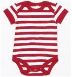 Body rot-weiß gestreift Baby-Mädchen