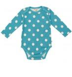 Bio-Baby Body Frugi Aqua Polka Dots