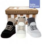 Baby Sneaker Peace Socken 3 Paar in Geschenkebox