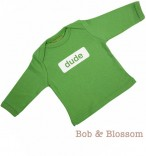 """Bob & Blossom Longsleeve """"dude"""" grün"""