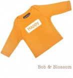 "Bob & Blossom Longsleeve ""Happy"" orange"