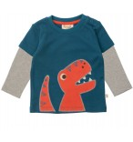 Frugi Bio-Baby-Oberteil Dino Layered Top