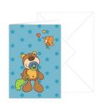 Grußkarte Baby-Junge Bär mit Umschlag