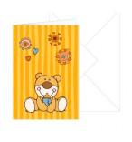 Grußkarte Baby-Neutral Bär mit Umschlag