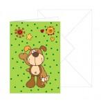 Grußkarte Hund mit Umschlag