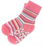 ABS Socken rosa geringelt