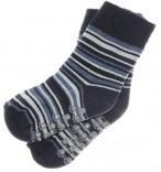 ABS Socken schwarz geringelt