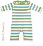 Bob & Blossom Babyschlafanzug hell-bunt gestreift