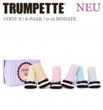 Trumpette Babysocken Cocos pastel Geschenkverpackung