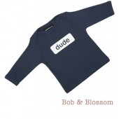 "Bob & Blossom Longsleeve ""dude"" dunkelblau"