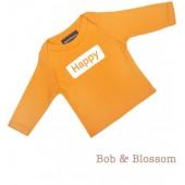 "Bob & Blossom Longsleeve ""Happy"" orange"