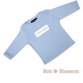 "Bob & Blossom Longsleeve ""Little Man"" hellblau"