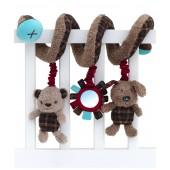 Babyschalen / Kinderwagenkette Percy Pup Soft Activity Spiral