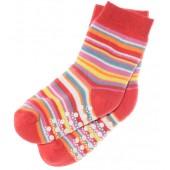 ABS Socken rot geringelt