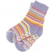 ABS Socken lila geringelt
