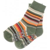 ABS Socken grün geringelt